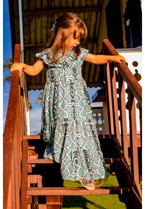 Vestido-Infantil---Cobra-Azul---Frente---Helena